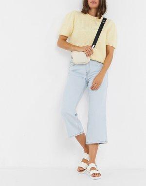 Расклешенные джинсы с классической талией -Голубой Dr Denim