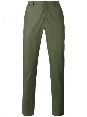 Классические брюки-чинос Etro. Цвет: зелёный