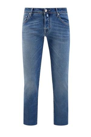 Классические джинсы прямого кроя из денима с ароматической пропиткой JACOB COHEN. Цвет: синий