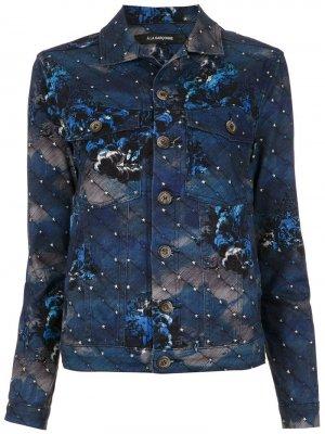 Джинсовая куртка Night À La Garçonne. Цвет: синий