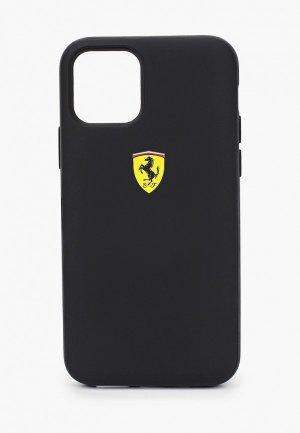 Чехол для iPhone Ferrari 11 Pro, On-Track cardslot magnetic PC/TPU Black. Цвет: черный
