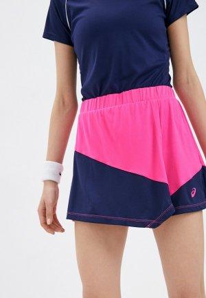 Юбка-шорты ASICS CLUB W SKORT. Цвет: розовый
