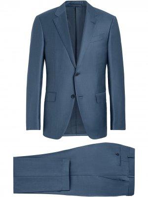Костюм с однобортным пиджаком Ermenegildo Zegna. Цвет: синий
