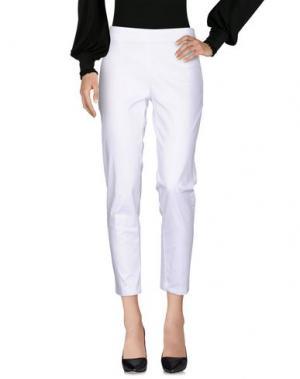 Повседневные брюки CANNELLA. Цвет: белый
