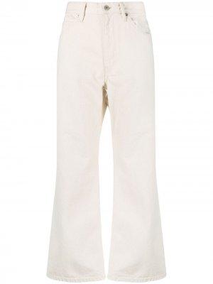 Укороченные джинсы широкого кроя Jil Sander. Цвет: нейтральные цвета