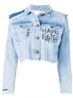 Укороченная куртка Faith Connexion. Цвет: синий