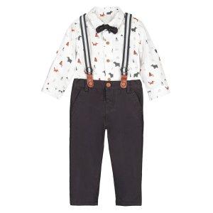 Комплект из рубашки и брюк La Redoute. Цвет: белый