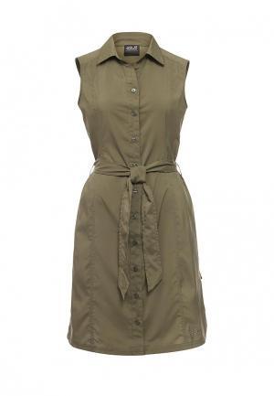 Платье Jack Wolfskin SONORA DRESS. Цвет: хаки