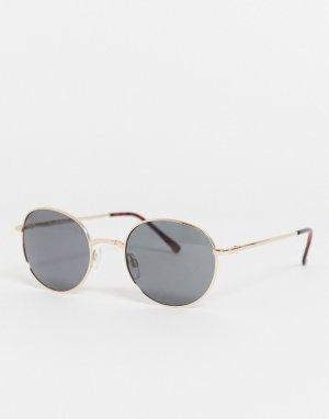 Солнцезащитные очки в крупной оправе -Черный AJ Morgan