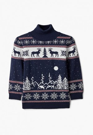 Свитер Wool&Cotton. Цвет: синий