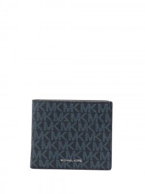 Бумажник с логотипом Michael Kors. Цвет: синий
