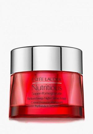 Маска для лица Estee Lauder ночная с комплексом антиоксидантов здорового сияния Nutritious Super-Pomegranate Radiant Energy Night Crème/Mask. Цвет: прозрачный