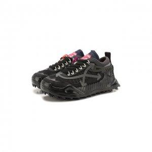 Комбинированные кроссовки ODSY-1000 Off-White. Цвет: чёрный