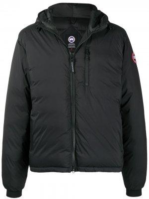 Куртка Lodge с капюшоном Canada Goose. Цвет: черный