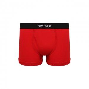 Хлопковые боксеры Tom Ford. Цвет: красный
