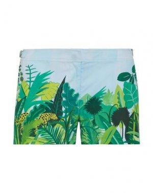 Пляжные брюки и шорты ORLEBAR BROWN. Цвет: зеленый