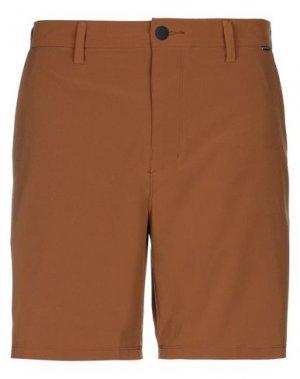 Бермуды HURLEY. Цвет: коричневый