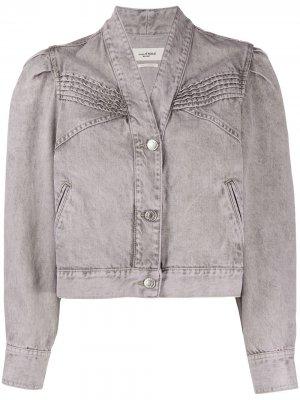 Джинсовая куртка со вставкой в рубчик Isabel Marant Étoile. Цвет: фиолетовый