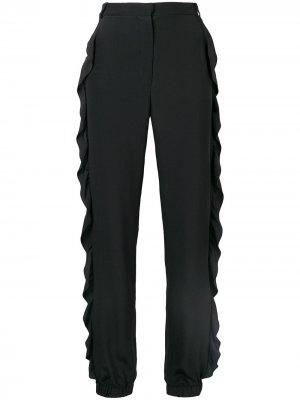 Зауженные брюки с оборками Sonia Rykiel. Цвет: черный