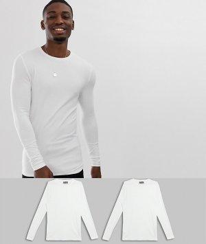 Обтягивающая футболка из органического хлопка с длинным рукавом и круглым вырезом ASOS DESIGN