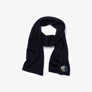 Шапки, шарфы и перчатки Шарф Lacoste. Цвет: черный