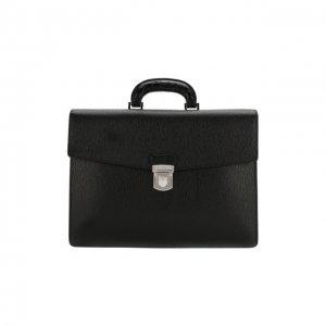 Кожаный портфель Salvatore Ferragamo. Цвет: чёрный