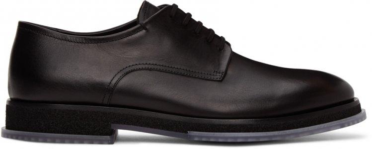 Black Lace-Up Derbys Giorgio Armani. Цвет: 2 black