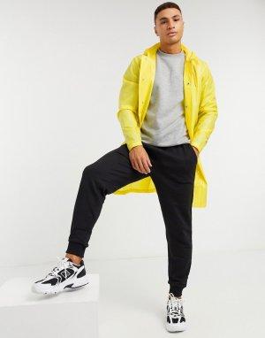 Прозрачный дождевик с капюшоном -Желтый Rains