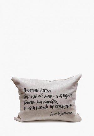 Подушка декоративная Счастье в мелочах Против меня.. Цвет: серый