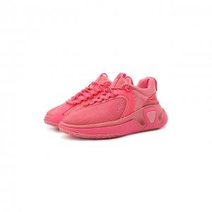 Текстильные кроссовки B Runner Balmain. Цвет: розовый