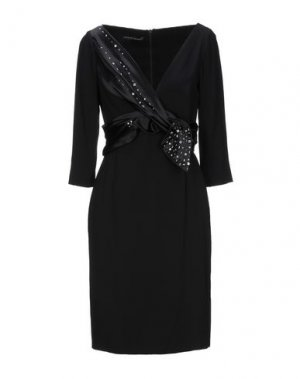 Короткое платье BOTONDI MILANO. Цвет: черный