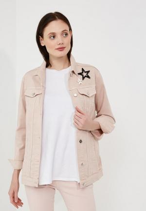 Куртка джинсовая Twin-Set Simona Barbieri. Цвет: розовый