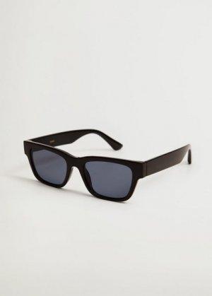 Солнцезащитные очки в квадратной оправе - Nadia Mango. Цвет: черный