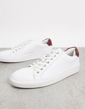 Белые кожаные кроссовки -Мульти Dune