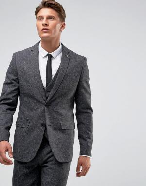 Темно-серый пиджак скинни в крапинку Farah Wedding Smart