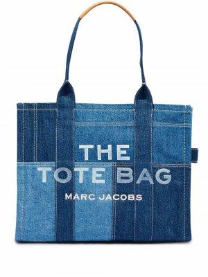 Большая сумка-тоут Denim Marc Jacobs. Цвет: синий
