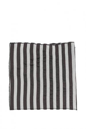 Карманный платок Bitsiani. Цвет: черный в серебристо-серую поло