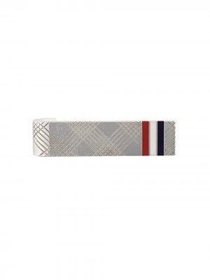 Зажим для галстука с полосками Thom Browne. Цвет: серебристый