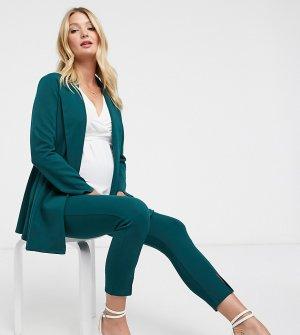 Зеленый трикотажный пиджак с запахом ASOS DESIGN Maternity