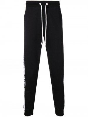Спортивные брюки с логотипом на лампасах Dirk Bikkembergs. Цвет: черный