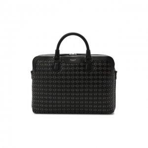 Кожаная сумка для ноутбука Mosaico Serapian. Цвет: чёрный
