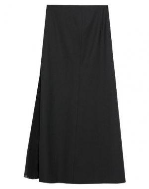 Длинная юбка PIERANTONIO GASPARI. Цвет: черный