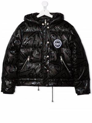 TEEN hood padded jacket John Richmond Junior. Цвет: черный