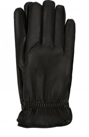 Кожаные перчатки Loro Piana. Цвет: черный