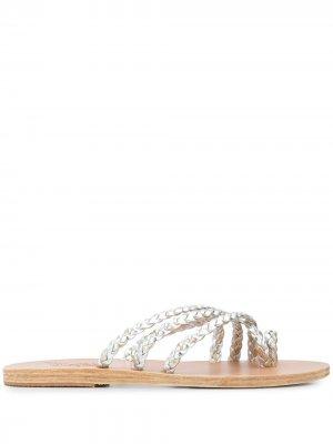 Сандалии Amalia Ancient Greek Sandals. Цвет: серебристый