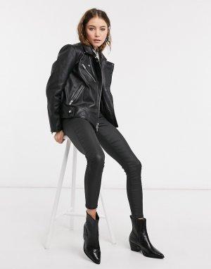 Свободная кожаная куртка черного цвета Gabriella-Черный Bolongaro Trevor