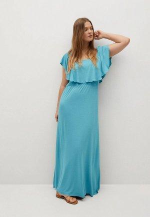 Платье Violeta by Mango - DUO. Цвет: голубой