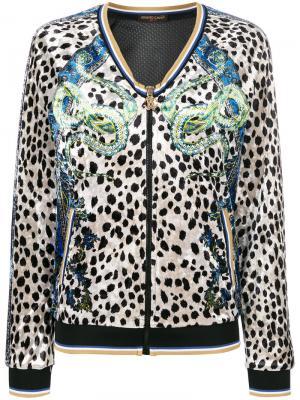 Спортивная куртка cheetah chenille Roberto Cavalli. Цвет: многоцветный