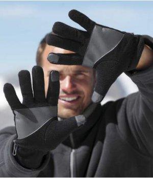 Перчатки из Флиса Atlas For Men. Цвет: черный