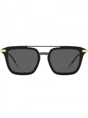 Солнцезащитные очки в квадратной оправе Dolce & Gabbana Eyewear. Цвет: черный